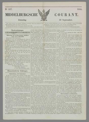 Middelburgsche Courant 1854-09-30