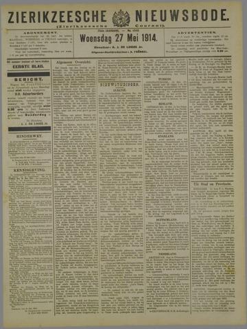 Zierikzeesche Nieuwsbode 1914-05-27