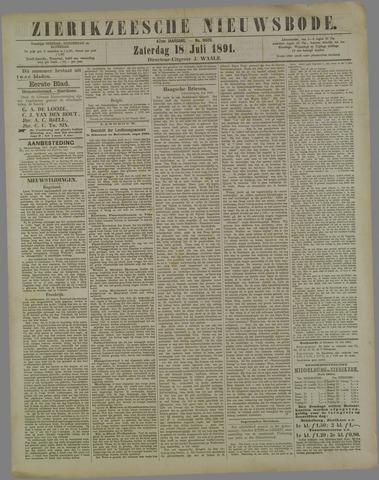 Zierikzeesche Nieuwsbode 1891-07-18