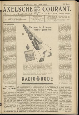 Axelsche Courant 1936-01-03