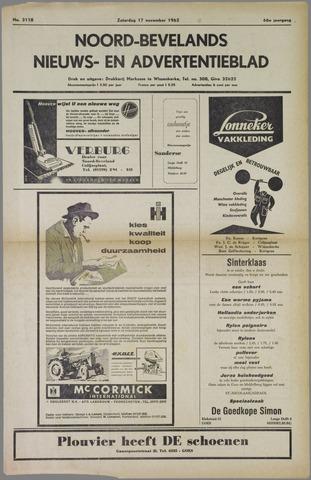 Noord-Bevelands Nieuws- en advertentieblad 1962-11-17