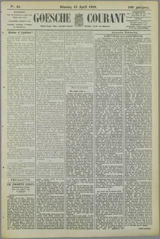 Goessche Courant 1919-04-15