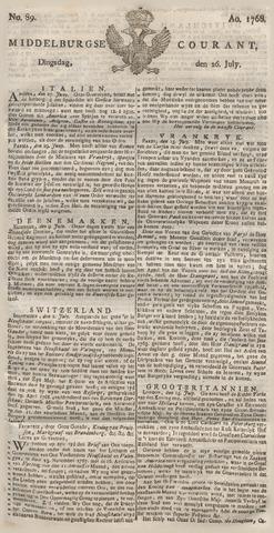 Middelburgsche Courant 1768-07-26