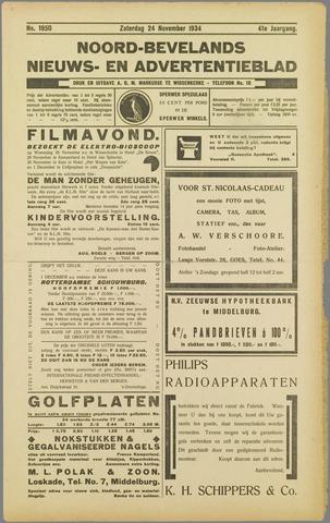 Noord-Bevelands Nieuws- en advertentieblad 1934-11-24