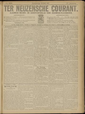 Ter Neuzensche Courant. Algemeen Nieuws- en Advertentieblad voor Zeeuwsch-Vlaanderen / Neuzensche Courant ... (idem) / (Algemeen) nieuws en advertentieblad voor Zeeuwsch-Vlaanderen 1917-07-12