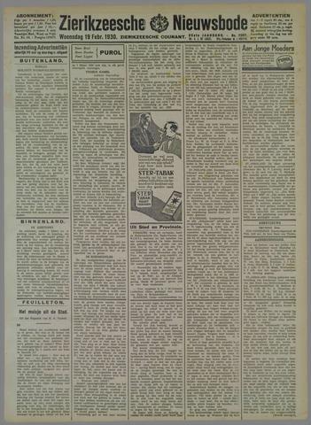 Zierikzeesche Nieuwsbode 1930-02-19