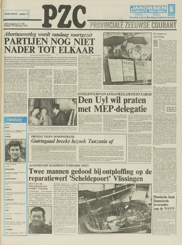 Provinciale Zeeuwse Courant 1977-08-19