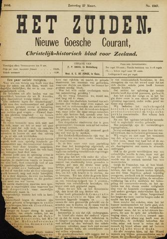 Het Zuiden, Christelijk-historisch blad 1886-03-27