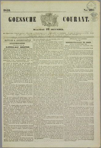 Goessche Courant 1853-12-26