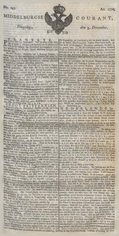 Middelburgsche Courant 1776-12-03