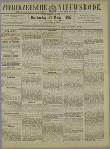 Zierikzeesche Nieuwsbode 1907-03-21