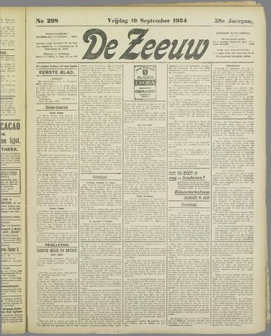 De Zeeuw. Christelijk-historisch nieuwsblad voor Zeeland 1924-09-19