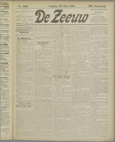 De Zeeuw. Christelijk-historisch nieuwsblad voor Zeeland 1916-06-23