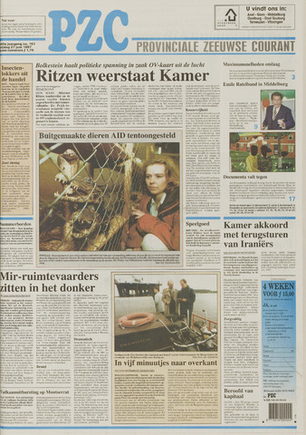 Provinciale Zeeuwse Courant 1997-06-27