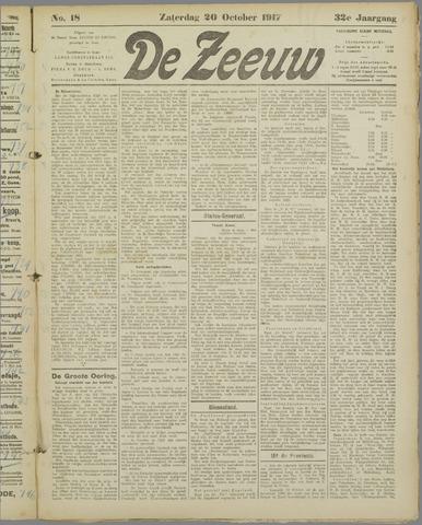 De Zeeuw. Christelijk-historisch nieuwsblad voor Zeeland 1917-10-20