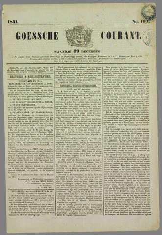 Goessche Courant 1851-12-29