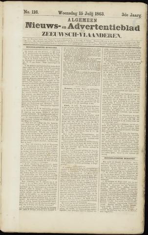 Ter Neuzensche Courant. Algemeen Nieuws- en Advertentieblad voor Zeeuwsch-Vlaanderen / Neuzensche Courant ... (idem) / (Algemeen) nieuws en advertentieblad voor Zeeuwsch-Vlaanderen 1863-07-15