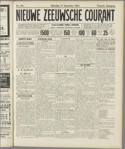 Nieuwe Zeeuwsche Courant 1913-09-27