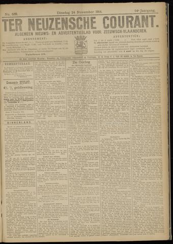 Ter Neuzensche Courant. Algemeen Nieuws- en Advertentieblad voor Zeeuwsch-Vlaanderen / Neuzensche Courant ... (idem) / (Algemeen) nieuws en advertentieblad voor Zeeuwsch-Vlaanderen 1914-11-24