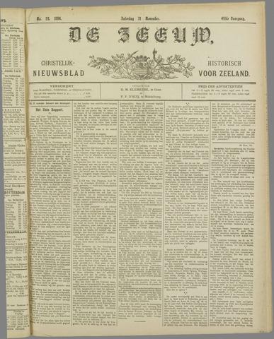 De Zeeuw. Christelijk-historisch nieuwsblad voor Zeeland 1896-11-21