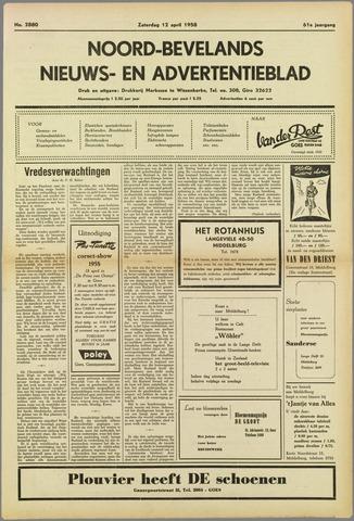 Noord-Bevelands Nieuws- en advertentieblad 1958-04-12