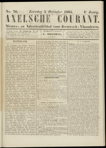 Axelsche Courant 1885-12-05