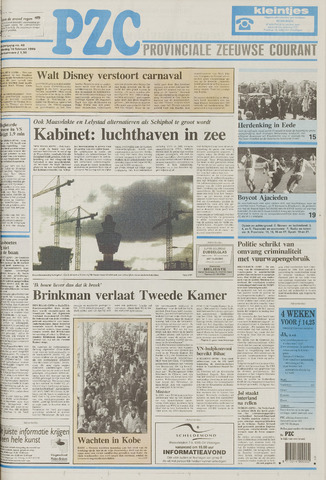 Provinciale Zeeuwse Courant 1995-02-16