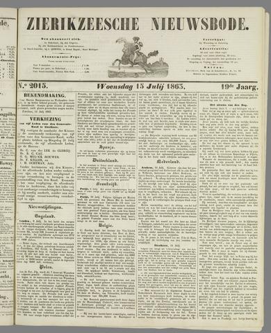 Zierikzeesche Nieuwsbode 1863-07-15