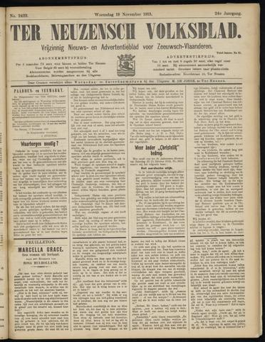 Ter Neuzensch Volksblad. Vrijzinnig nieuws- en advertentieblad voor Zeeuwsch- Vlaanderen / Zeeuwsch Nieuwsblad. Nieuws- en advertentieblad voor Zeeland 1913-11-19