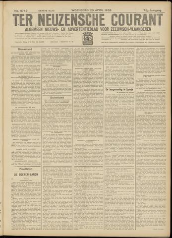 Ter Neuzensche Courant. Algemeen Nieuws- en Advertentieblad voor Zeeuwsch-Vlaanderen / Neuzensche Courant ... (idem) / (Algemeen) nieuws en advertentieblad voor Zeeuwsch-Vlaanderen 1938-04-20