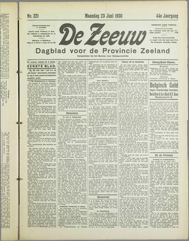De Zeeuw. Christelijk-historisch nieuwsblad voor Zeeland 1930-06-23