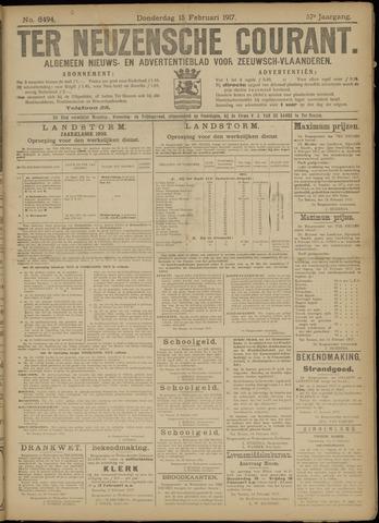 Ter Neuzensche Courant. Algemeen Nieuws- en Advertentieblad voor Zeeuwsch-Vlaanderen / Neuzensche Courant ... (idem) / (Algemeen) nieuws en advertentieblad voor Zeeuwsch-Vlaanderen 1917-02-15
