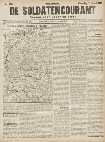 De Soldatencourant. Orgaan voor Leger en Vloot 1917-03-21