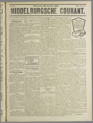 Middelburgsche Courant 1925-01-28