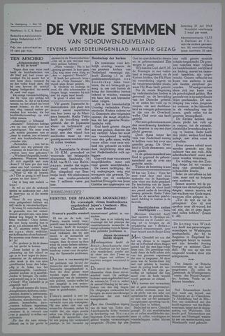 Vrije Stemmen van Schouwen-Duiveland, tevens mededeelingenblad Militair Gezag 1945-07-21