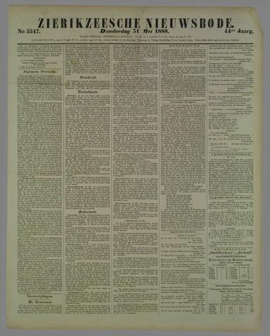Zierikzeesche Nieuwsbode 1888-05-31