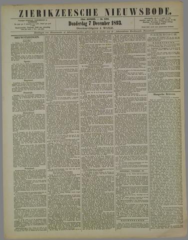 Zierikzeesche Nieuwsbode 1893-12-07