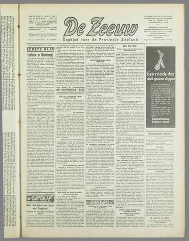 De Zeeuw. Christelijk-historisch nieuwsblad voor Zeeland 1937-11-01