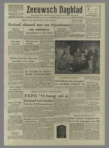 Zeeuwsch Dagblad 1958-03-03