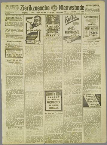 Zierikzeesche Nieuwsbode 1926-12-17