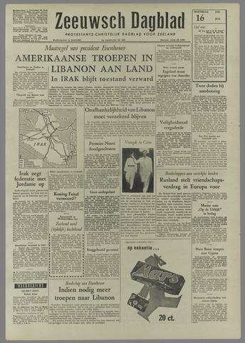 Zeeuwsch Dagblad 1958-07-16