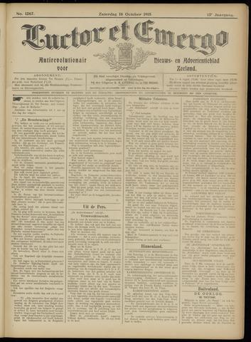 Luctor et Emergo. Antirevolutionair nieuws- en advertentieblad voor Zeeland / Zeeuwsch-Vlaanderen. Orgaan ter verspreiding van de christelijke beginselen in Zeeuwsch-Vlaanderen 1915-10-16