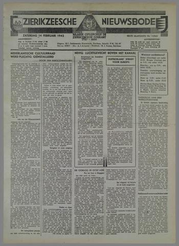 Zierikzeesche Nieuwsbode 1942-02-14