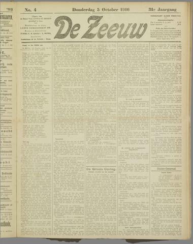 De Zeeuw. Christelijk-historisch nieuwsblad voor Zeeland 1916-10-05