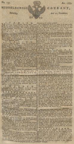 Middelburgsche Courant 1775-11-11