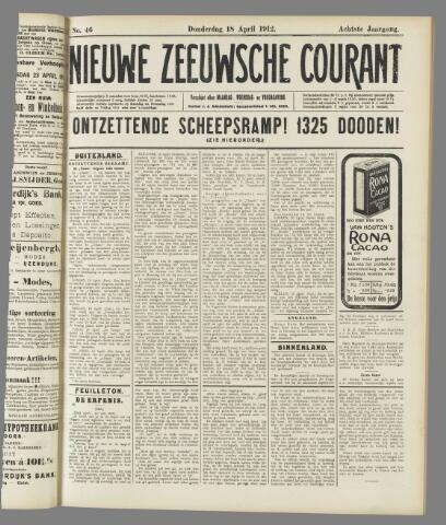 Nieuwe Zeeuwsche Courant 1912-04-18
