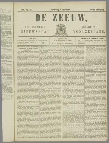 De Zeeuw. Christelijk-historisch nieuwsblad voor Zeeland 1888-12-01