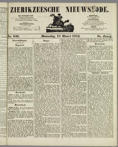 Zierikzeesche Nieuwsbode 1852-03-15