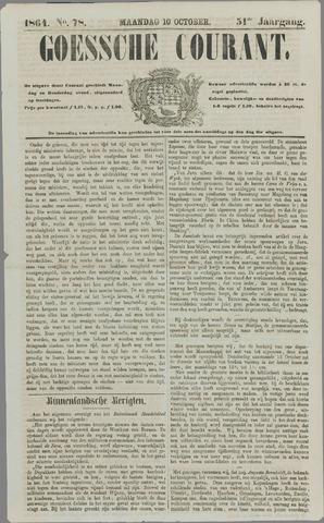 Goessche Courant 1864-10-10