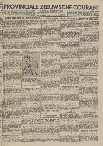 Provinciale Zeeuwse Courant 1943-03-29